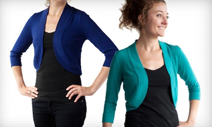 Jessica Howard Bolero Sweater: $16 for a Jessica Howard 3/4-Sleeve Bolero Shrug ($39.99 List Price). Multiple Colors and Sizes Available.