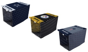 """NFL 42"""" or 48"""" Pet Crate Cover"""