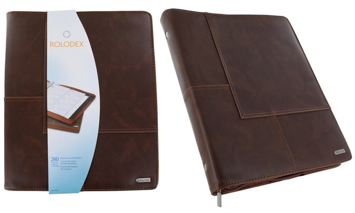 Up To 13 Off On Organizer Business Card Book Groupon Goods