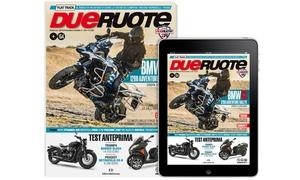 """Abbonamento carta più digitale """"Dueruote"""" : Abbonamento carta più digitale alla rivista """"Dueruote"""" (sconto fino al 41%)"""