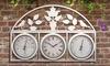 Horloge de jardin/station météo
