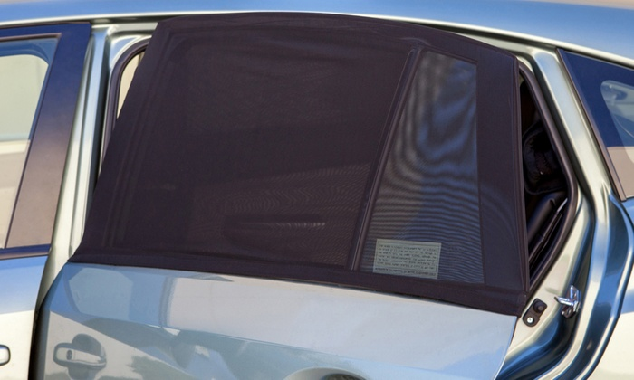 20 off on car sun shade screen set 2 pc groupon goods for Window opens off screen