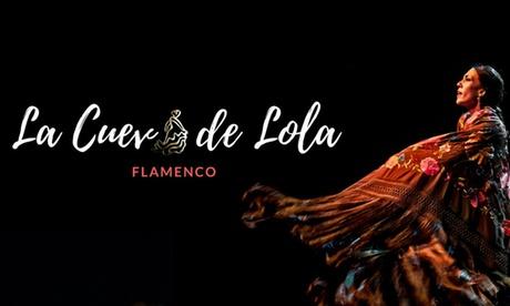 Espectáculo flamenco para 2, 4 o 6 personas con copa o menú con botella de vino desde 29,99 € en La Cueva de Lola