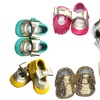 Kids' Splash of Gold Genuine Leather Moccasins