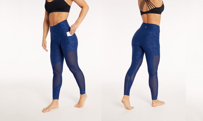 38c9c9e2cb7db Bally Fitness Women's High-Waist Power Tek Camo Leggings with Pockets