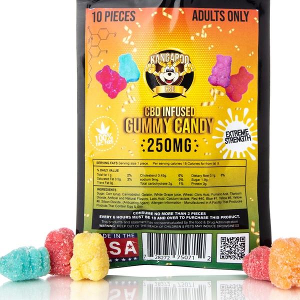Organic CBD-Infused Gummy Bears from Kangaroo CBD (250mg) (1-, 2-, or  3-Pack)