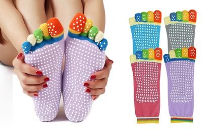 1, 2, 3 ou 4 paire de chaussettes Yoga antidérapantes