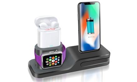 Base de carga de silicona para iPhone, iWatch y AirPods