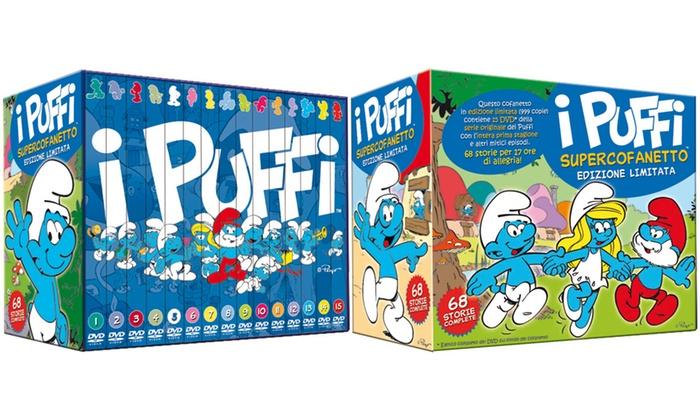 Groupon Goods Global GmbH: Supercofanetto I Puffi in 15 DVD in edizione limitata a 44,90 € (55% di sconto)