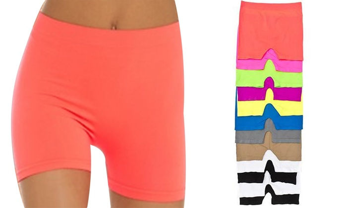 Junior Basic Seamless Stretch Shorts (12-Pack). Fits Up to Size 5/7.