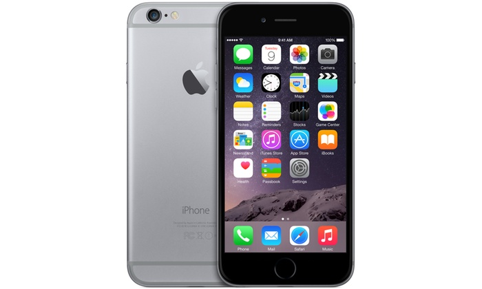 iphone 6 gris 16 gb reconditionn groupon. Black Bedroom Furniture Sets. Home Design Ideas