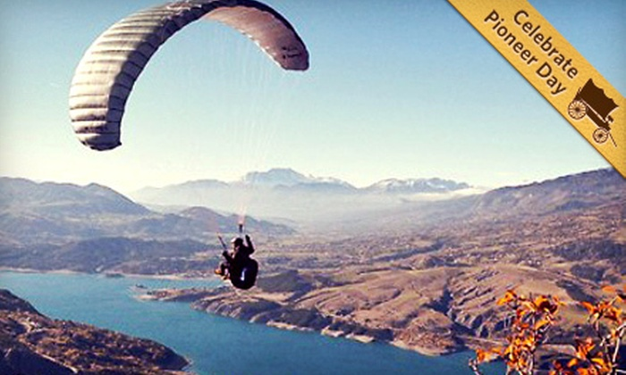 Cloud 9 Paragliding School - Point of the Mountain: Introductory Paragliding Lesson for One or Three from Cloud 9 Toys in Draper (Up to 52% Off)