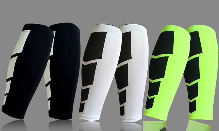 Square Pattern Leg Compression Sleeves (2-Pack)