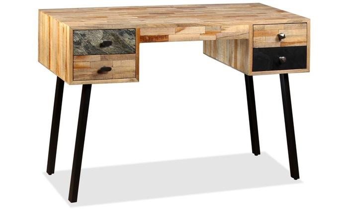 Jusqu à bureau en bois avec tiroirs groupon