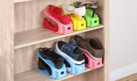 8-tlg. Schuhstapler-Set aus Kunststoff in 4 Farben