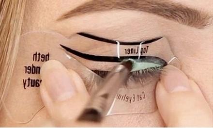 1, 2, 3 o 4 pares de plantillas para delineado de ojos