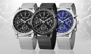 SO & CO New York Men's Multifunction Mesh Bracelet Watch at SO & CO New York Men's Multifunction Mesh Bracelet Watch, plus 6.0% Cash Back from Ebates.