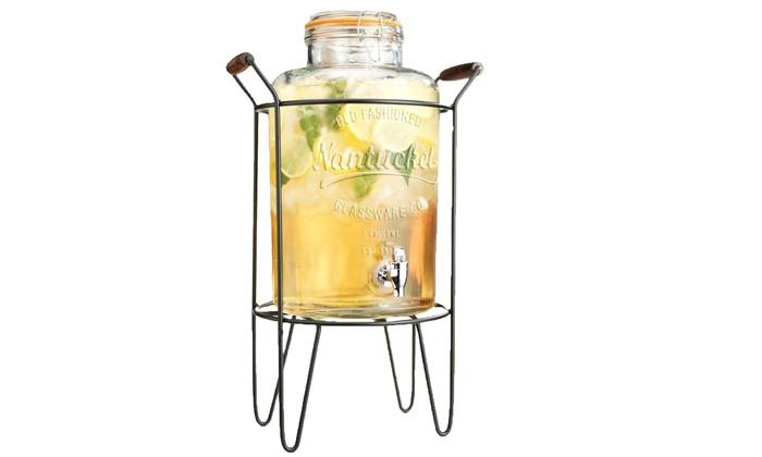 two gallon mason jar beverage dispenser stand drink diy ideas