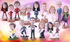 Yesbobbleheads: Personalised Single, Couple or Family Bobbleheads from Yesbobbleheads (Up to 63% Off)