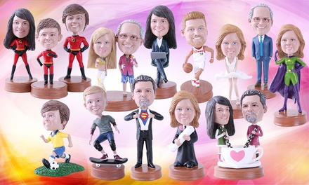 Personalised Single, Couple, Family or Pet Bobblehead from Yes Bobbleheads