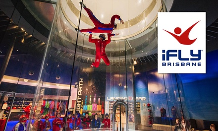 iFLY Indoor Skydiving Brisbane: Weekday $59 or Anytime Flights $79, or Anytime Flights + Extras Person $145