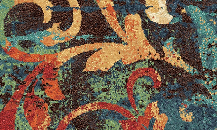 Watercolor Scroll Area Rug Groupon