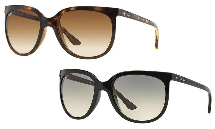 7519c46d0de788 Ray-Ban Cats 1000 RB4126 Sunglasses  Black Frame Gray Lens