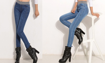 Elastic Waist Jeans: One Pair $25 or Two Pairs $45