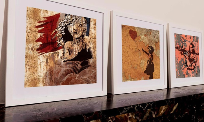 Whoartnow Limited: Regular (AED 69) or Large (AED 99) Bansky-Effect Metal Prints (Up to 78% Off)