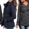 Women's Wool-Blend Belted Peacoat