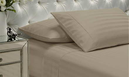 1200tc Cotton FourPiece Stripe Sheet Set: Queen Size $59 or King Size $69 Don't Pay Up to $249.95