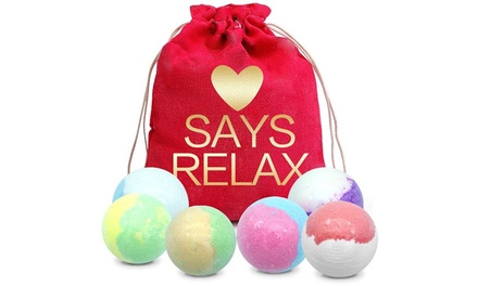Six 'Love Says Relax' Individually Scented Bath Bombs