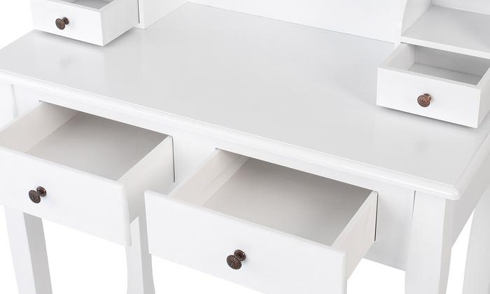 Make Up Tafel : Witte make up tafel groupon goods