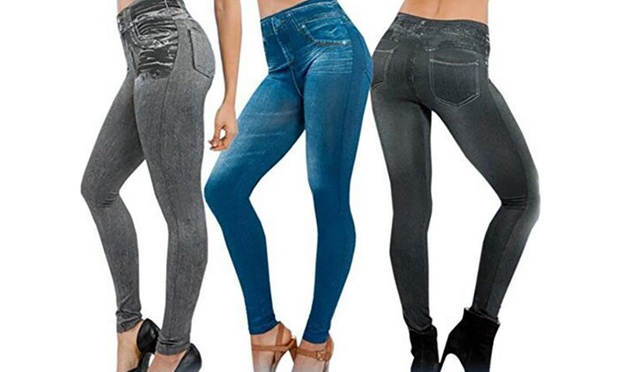 Push-Up Slimming-Effect Jeggings | Groupon Goods