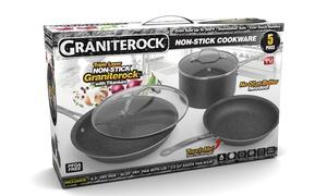 Granite Rock Nonstick Triple-Coated Cookware Set (5-Piece)