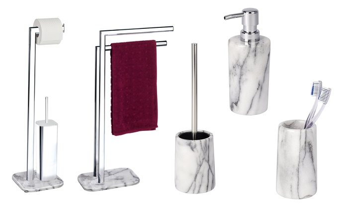 Accessori Bagno In Marmo.Set Da Bagno Onyx Wenko In Marmo Groupon Goods