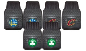 NBA Heavy-Duty Vinyl Car Mat Set (2-Piece)