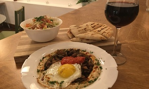 Birona - Hummus bar: Dinner with Beer or Wine for Two or Four at Birona Mediterranean Hummus Bar (55% Off)