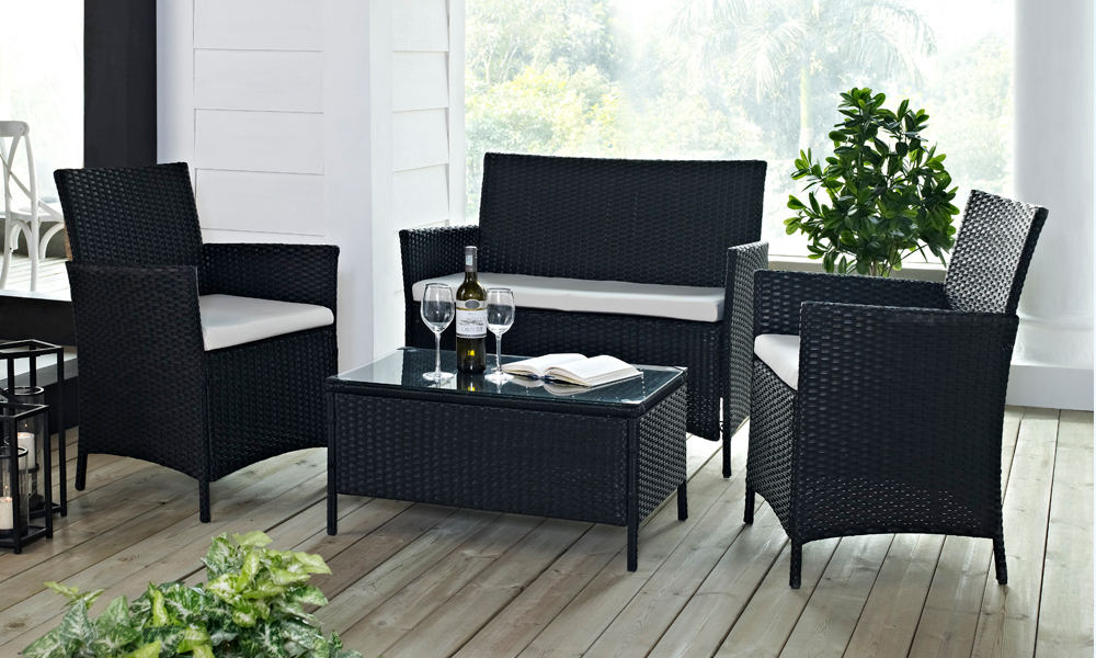 Rattan sofa set groupon baci living room Groupon uk living room furniture