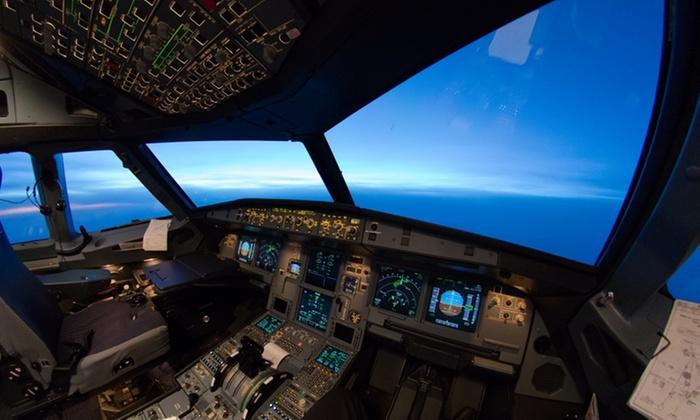 30 Min. oder 60 Min. Flugsimulator-Erlebnis im Airbus A320 od. 4 Std. Profigruppenflug mit Aerotask (bis zu 63% sparen*)