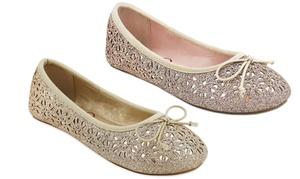 Olivia Miller Girl's Hedi Glitter Ballets