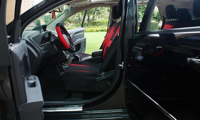 full car seat cover set 17 pc groupon goods. Black Bedroom Furniture Sets. Home Design Ideas