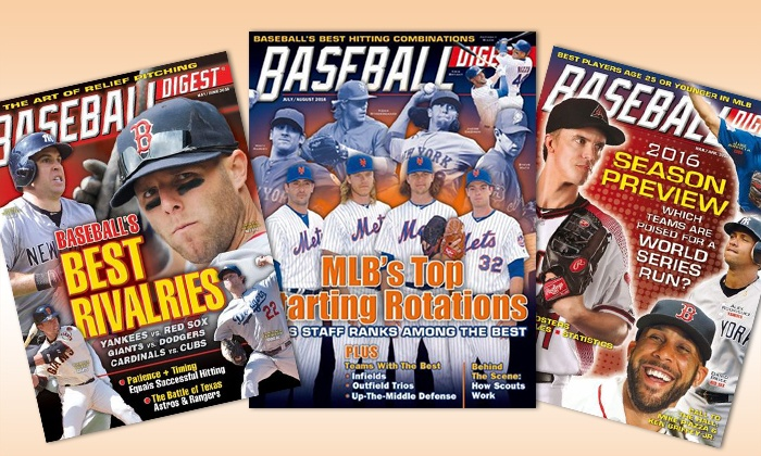 "$19 for a One-Year, Six-Issue Subscription to ""Baseball Digest"" from Blue Dolphin Magazines"