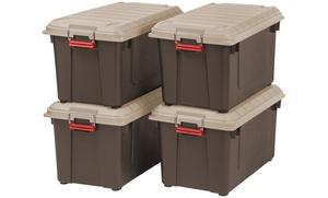 Iris 82-Qt Weather-Tight Storage Box (4-Pack)