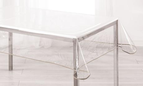 Nappes transparentes d'intérieur rectangulaires ou rondes en PVC