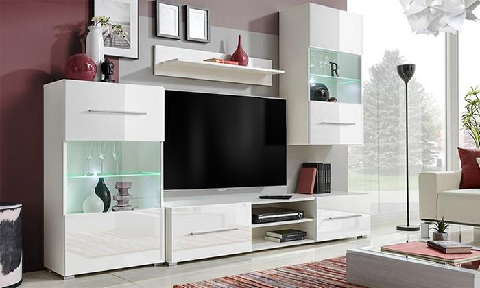 Parete da soggiorno in 4 elementi | Groupon