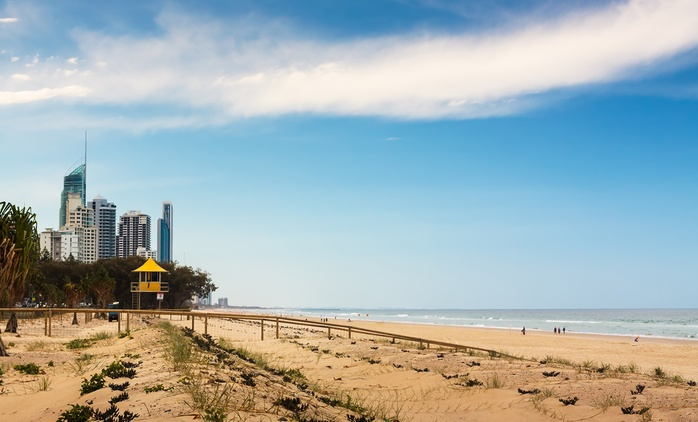 Gold Coast: From $139 for a Romantic Escape with Daily Breakfast + Late Checkout at 4-Star Quality Hotel Mermaid Waters