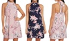 Floral Halter Neck Dress