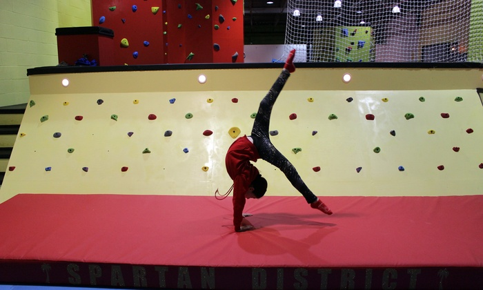 1-Hour Drop-In, Full Day or Week of Summer Camp, or Birthday Party Package at Spartan Gymnastics (Up to 52% Off)