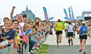 Run in Mont St-Michel: Run In Mont-Saint-Michel - Trail, Semi-marathon, marathon, pour 1 ou 2 pers., dès 25€ avec Amaury Sport Organisation